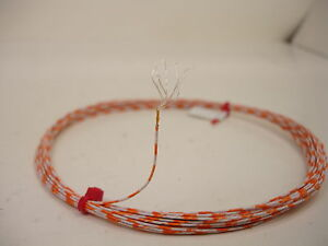 25-feet-26-AWG-Silver-plated-polyimide-film-PTFE-White-Orange-19-strand-SPC