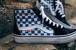8be8be3e64 Image is loading Vans-Sk8-Hi-Pro-Checkerboard-Black-Victoria-Blue