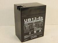 Upg Ub13-6k Ub13-6 K Universal Non-spillable Sealed Lead-acid Battery 6v 13ah
