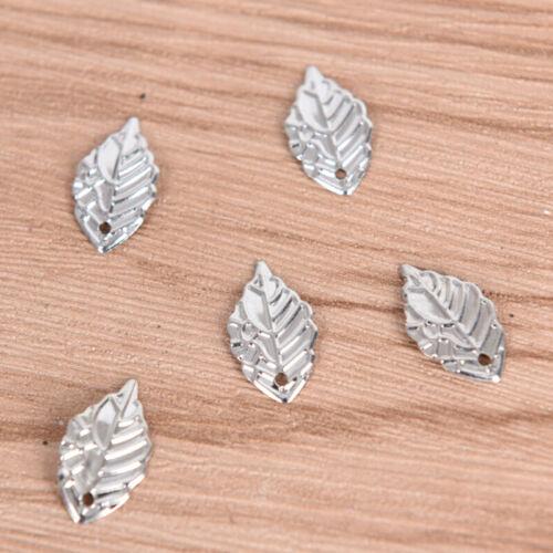 50Pcs//Lot Crafts Filigree Leaf Charms  Necklace Pendants DIY Jewelry Findi uW