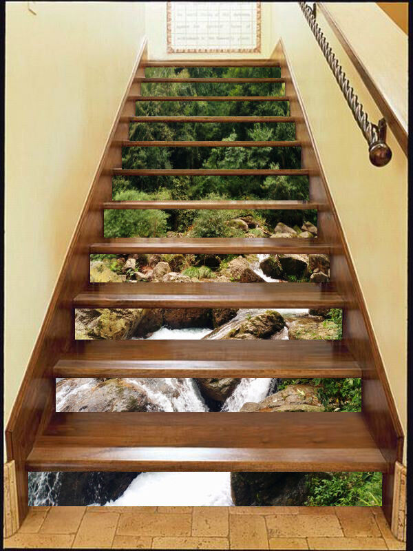 3D Stone River 88 Stair Risers Decoration Photo Mural Vinyl Decal Wallpaper CA