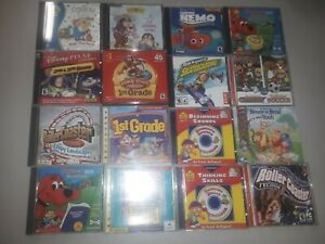 Lot of 16 Video Game PC Game Games! Computer Disney Vintage Kids Learning, #175C
