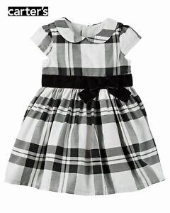 f124b552d NWT Carter s Girls  Black   White Plaid Dress Set(Size 3M