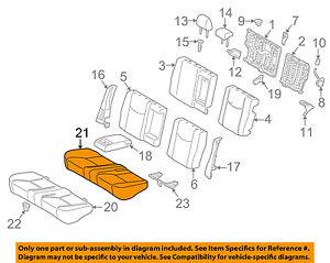 toyota oem 10 15 prius rear seat cushion cover 7107547130g5 ebay Prius Drawing image is loading toyota oem 10 15 prius rear seat cushion