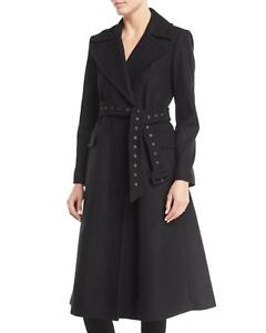 d4b86fd239ef NEW Theory Bria Perfect Belted Long Wool Coat in Black - Size L ...