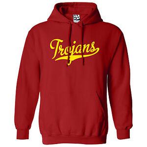 Trojans-Script-amp-Tail-HOODIE-Hooded-School-Sports-Team-Sweatshirt-All-Colors