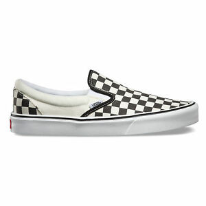 ca3f2d7d1426d7 Men s Vans Classic Slip-on Lite Black White Checker Fashion Sneaker ...