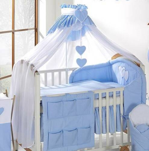White//Blue LUXURY BABY CANOPY DRAPE COT BED HOLDER 480cm WIDTH Fit COT