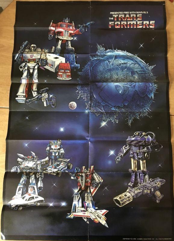 Transformers G1 poster Vintage Hasbro 1986