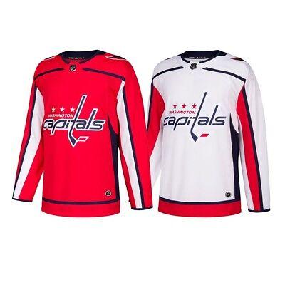 cheaper a3d59 6361e 2017-18 Washington Capitals Adidas Authentic On-Ice Climacool Jersey Men's  | eBay