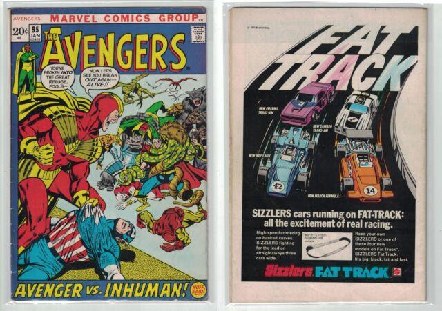 The Avengers #95 (Vol 1 Jan 1972) Something Inhuman This Way Comes..! Neal Adams