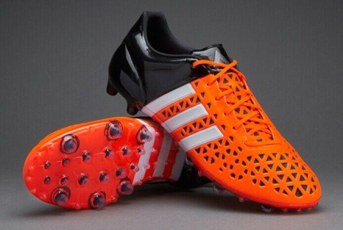 Adidas ACE 15.1 FG AG S83209 fútbol con Naranja Negro UK12.5 UK13