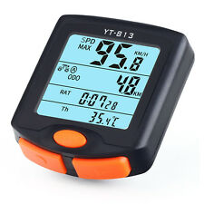 Bicycle Bike 24 functions LCD Computer Odometer Speedometer Back light UK Seller