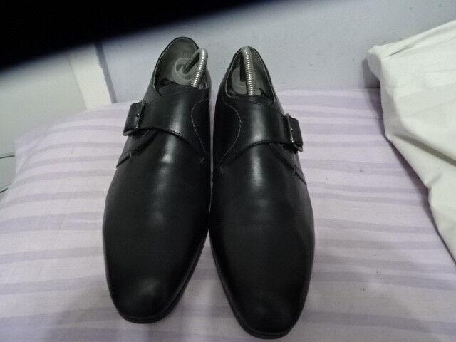 Herren SIDE TED BAKER HUSKAD BLACK SIDE Herren BELT LEATHER Schuhe SZ UK 10 36d72e