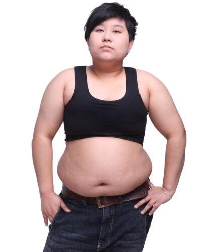 Plus Size Oversize Les Lesbian Tomboy Crop Vest Tank Top Undder Chest Binder New