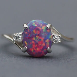 Vintage-Women-2-3Ct-Fire-Opal-925-Silver-Ring-Wedding-Party-Gemstone-Engagement