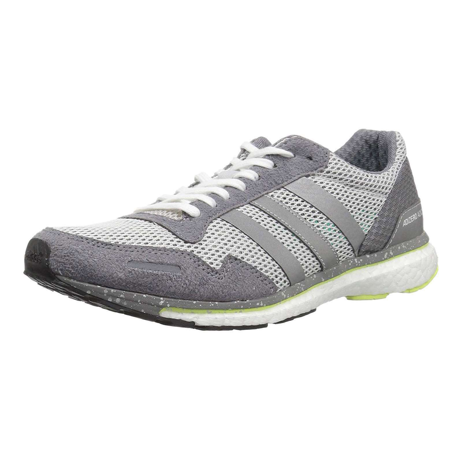Women Adidas Adizero Adios Grey Running Shoes Womens Sneakers BB6410 NEW