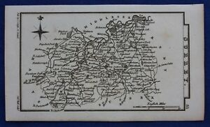 Original-antique-miniature-county-map-SURREY-Samuel-Leigh-1820-31