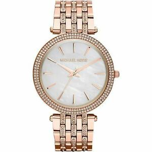 1540ba08902a Michael Kors Darci Glitz Rose Gold-Tone Stainless Steel Bracelet Watch  MK3220 Wrist Watch for Women. +.  106.00Brand New