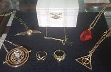 7 piece Harry Potter inspired jewelry box set Hufflepuff ravenclaw hogwarts