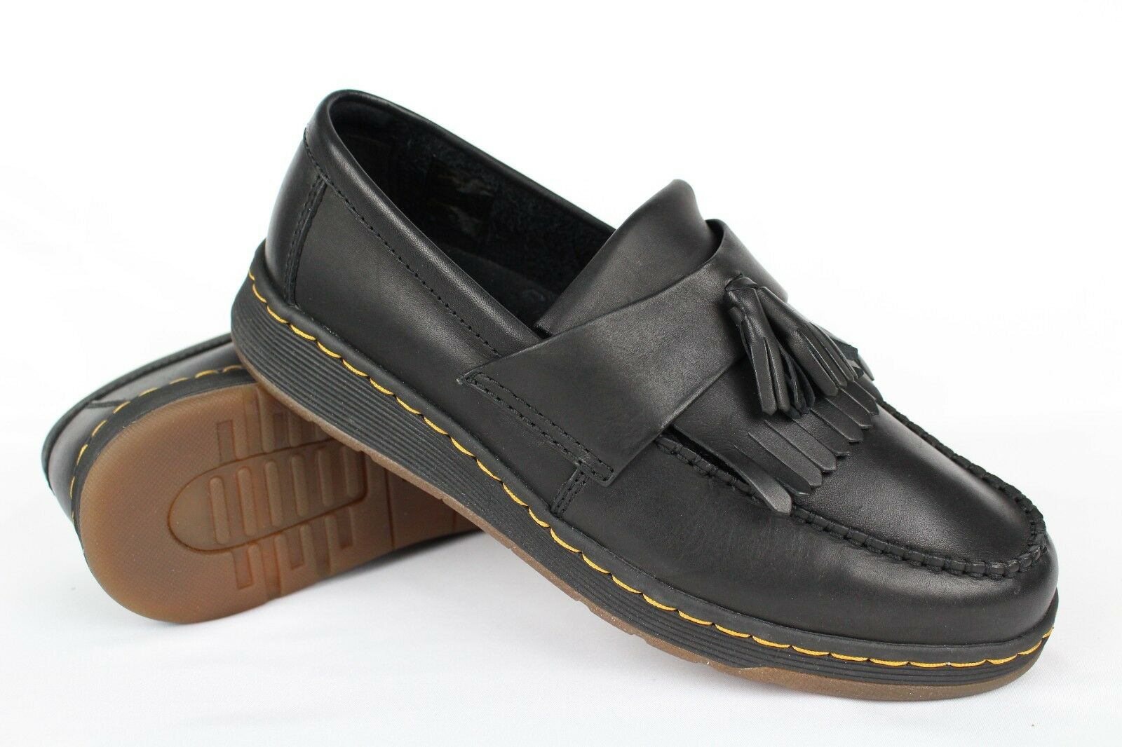 Dr Martens Women's Edison Tassel Loafers Slip On Soft Wair Size 10 Black Leather