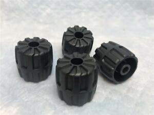 X 24mm 1 x Lego System Wheel Axle Black Hard Plastic Wheels Black Small 22mm D