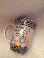 """Tara Reed """"Plant Seeds for Tomorrow"""" Animal Print & Polka Dot Coffee Mug/Cup"""