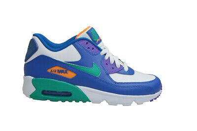 Juniors Nike Air Max 90 Leather (GS) 833412410 Gym Blue Green   eBay