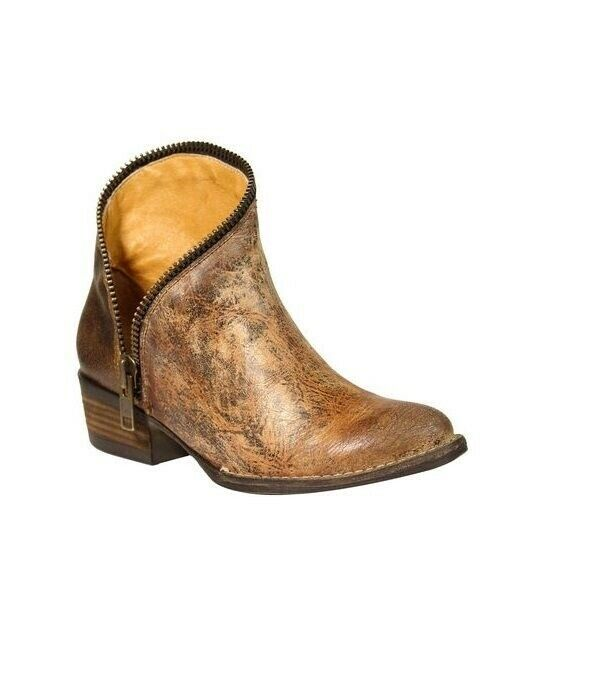 Corral Wouomo  Zipper J Toe Leather Western Ankle stivali oroen E1217