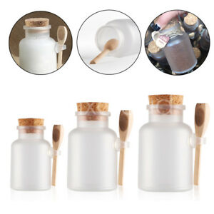 3ffc33995c0a Details about 100g 200g 300g 500g Empty ABS Bath Salt Jars Seasoning Sauce  Jar Scoop Container