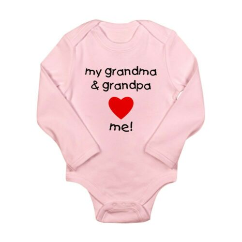 CafePress My Grandma And Grandpa Baby Bodysuit 556502806