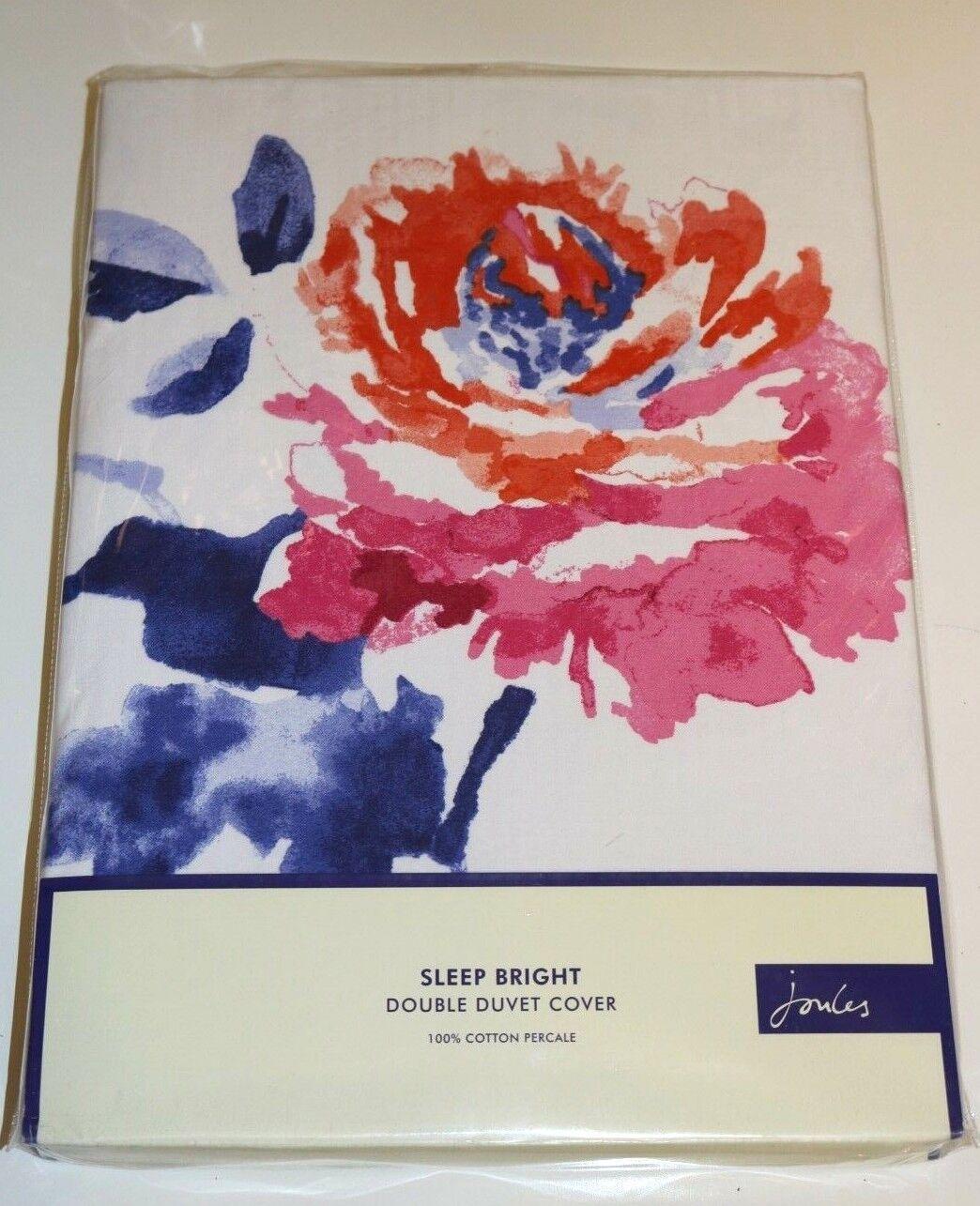 JOULES - SALCOMBE FLORAL BEDDING - DEEP Blau - DUVET COVER - DOUBLE Größe