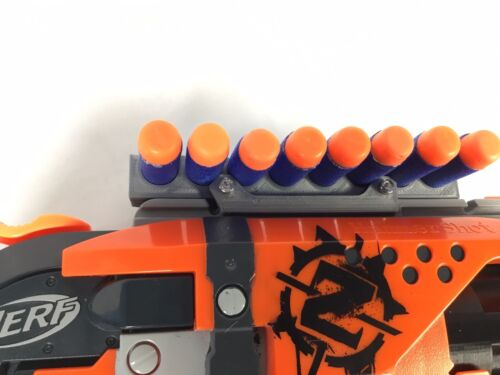 SSWI Nerf Compatible Tactical Rail Ammo Holder Holds 6 8 or 10 Darts Universal
