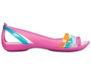b46b116c4f NEW Genuine Crocs Women Isabella Huarache 2 Flat Paradise Pink ...