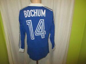VfL-Bochum-Adidas-Langarm-Matchworn-Trikot-1979-80-034-ohne-Sponsor-034-Nr-14-Gr-L