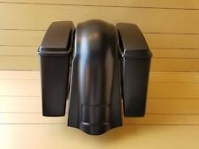 4¨STRETCHED SADDLEBAGS-LIDS AND REAR OVERLAY FENDER FOR HARLEY DAVIDSON SOFTAILS