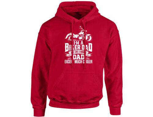 I/'m A Biker Dad Except Much Cooler Unisex Hoodie 8 Colours
