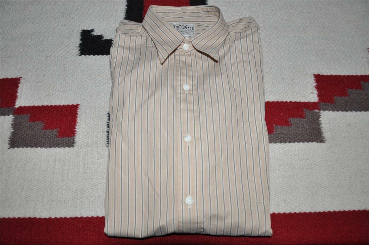 Ralph Lauren RRL Striped Cotton Dress Shirt 16