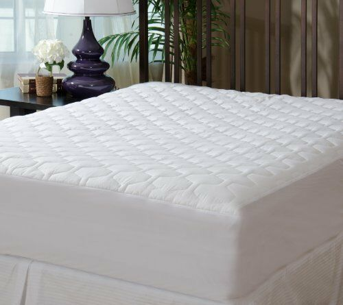 Bed Mattress Pad Cover Protector Fitted Quilted Twin Size Hypoallergenic White