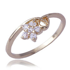 Lovely Womens Gold Filled Crystal Flower Ring Size 7.5 wholesale lot