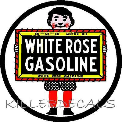 """24/"""" HUSKY SERVICE GASOLINE DECAL GAS AND OIL GAS PUMP SIGN WALL ART STICKER"""