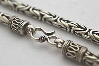 """Solid 925 Sterling Silver Bali Chain / Byzantine Necklace, 55 grams, 5mm, 16"""""""
