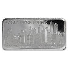 10 oz Silver Wall Street Mint Bar - Type 1 - SKU #22858