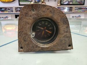 1974-80-DODGE-PICKUP-TRUCK-LIL-RED-EXPRESS-ELECTRIC-CLOCK-amp-MOUNTING-PLATE-USED