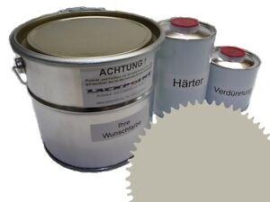 3 Liter Set 2K Floor Coating Ral 7032 Gray Shine Floor Color Workshop