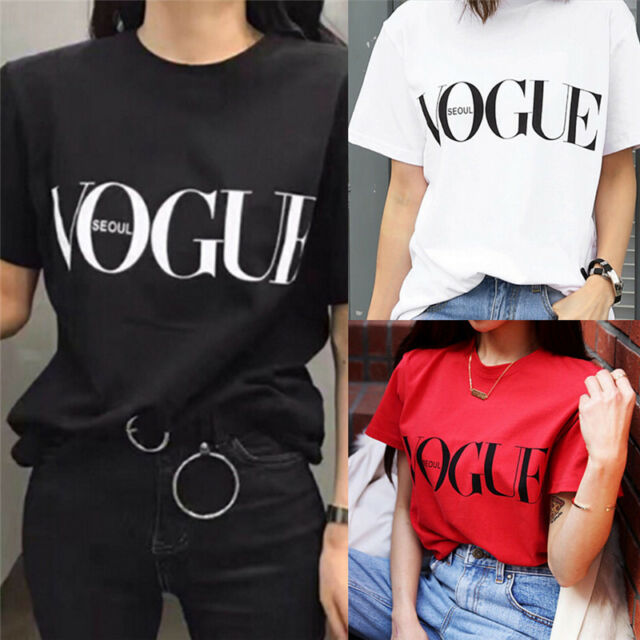 Fashion Girl Short Sleeve Tops Clothes For Women Vogue Letter Printed T-shirt SJ