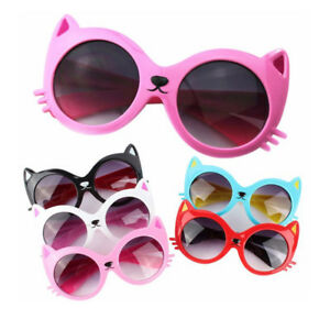 Kids-Cartoon-Cat-UV400-Sunglasses-Boys-Girls-Lovely-Shade-Goggles-Eyewear-Resin