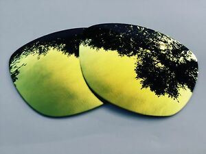 Polarizado-24k-Oro-Lentes-De-Reemplazo-oakley-frogskins-espejo