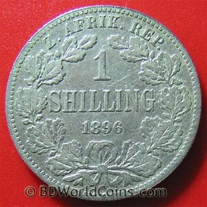 1896-SOUTH-AFRICA-ONE-1-SHILLING-SILVER-LOW-MINT-ZUID-AFRICAN-COLLECTABLE-COIN