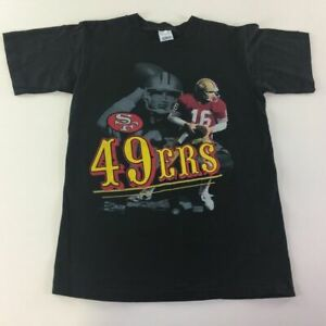 Joe-Montana-San-Francisco-49ers-VTG-90s-T-Shirt-M-1990-Salem-NFL-Football-Mens